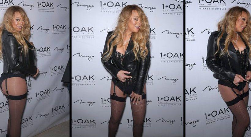 Mariah Carey: Βραδινή έξοδος μόνο με τις ζαρτιέρες της