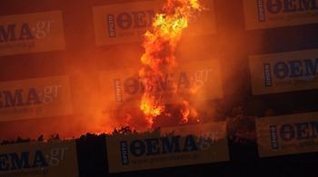 Δραματικές ώρες στα Δερβενοχώρια: Μια ανάσα από τα σπίτια οι φλόγες