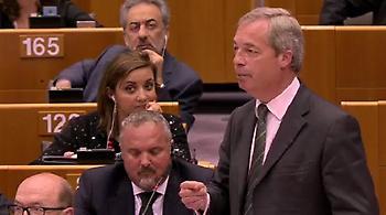 «Πυρ ομαδόν» κατά Φάρατζ στο Ευρωκοινοβούλιο για το Brexit