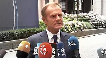 Τουσκ: Είμαστε έτοιμοι να αρχίσουμε διαδικασίες διαζυγίου με τη Βρετανία σήμερα