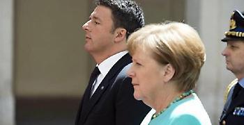 Έπεσε σε τοίχο ο Ρέντσι: Η Μέρκελ θέλει bail in για διάσωση των ιταλικών τραπεζών