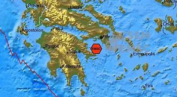 Σεισμός 3,8 Ρίχτερ στον Αργοσαρωνικό