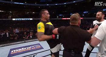 Αθλητής του UFC κλώτσησε τον προπονητή του αντιπάλου του (video)
