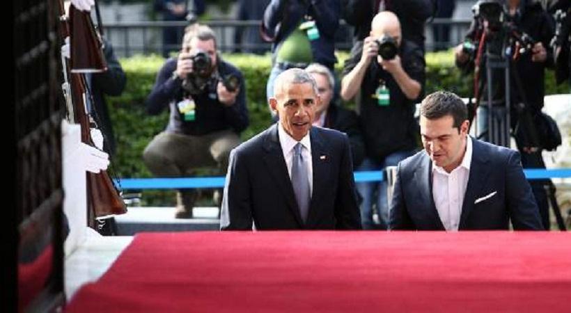 Ο ενικός και η στάση του Τσίπρα με Ομπάμα - Πήρε «φωτιά» το twitter (pics)