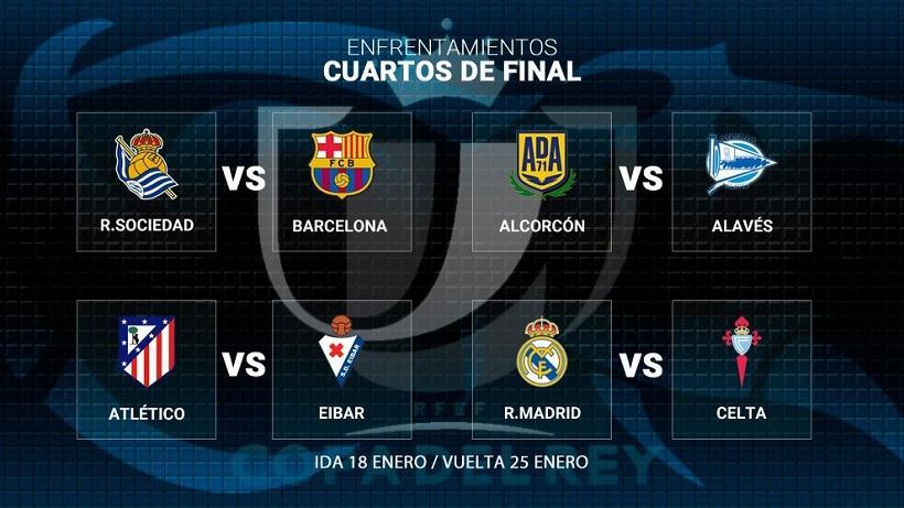 Χωρίς μεγάλο ντέρμπι τα ημιτελικά του Κυπέλλου Ισπανίας