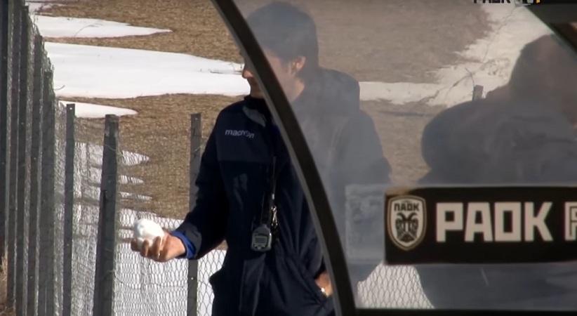 Έπαιξαν χιονοπόλεμο οι παίκτες του ΠΑΟΚ