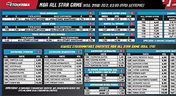 Ειδικό κουπόνι για τον Αντετοκούνμπο και το NBA AllStarGame από το ΠΑΜΕ ΣΤΟΙΧΗΜΑ του ΟΠΑΠ