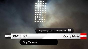 Σε κυκλοφορία τα πρώτα εισιτήρια του ΠΑΟΚ-Ολυμπιακός