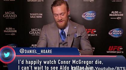 Ο ΜακΓκρέγκορ διαβάζει tweets που τον κράζουν και απαντά (video)