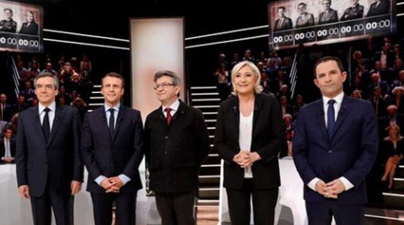 Κόντρες και υποσχέσεις στην τηλεμαχία των υποψηφίων για τη γαλλική προεδρία
