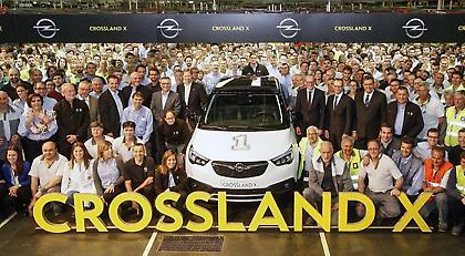 Η Opel ξεκίνησε την παραγωγή του Crossland X στη Zaragoza