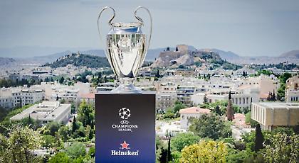 Στην Αθήνα το τρόπαιο του Champions League από την Heineken!