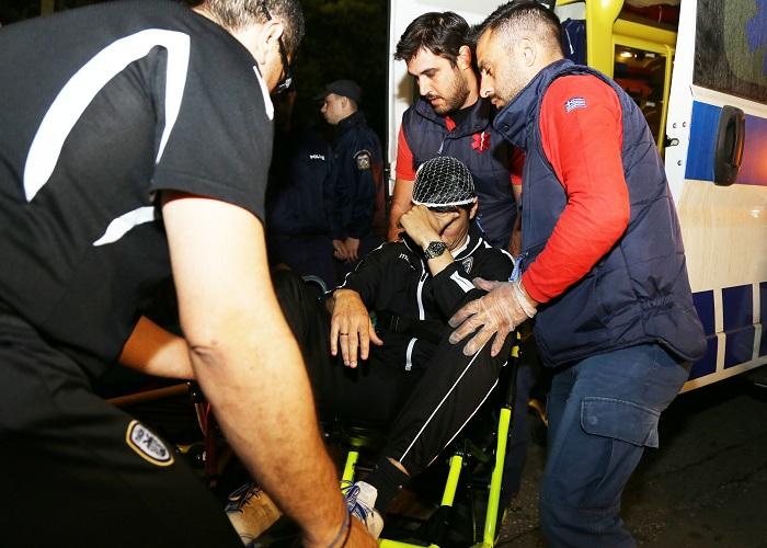 223828 Οριστική διακοπή στο ΠΑΟ-ΠΑΟΚ - Στο νοσοκομείο ο Ίβιτςπου δέχθηκε αντικείμενο στο κεφάλι [εικόνες]