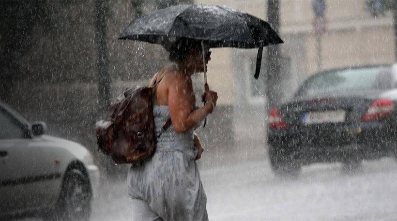 Φθινοπωρινός ο καιρός με βροχές, καταιγίδες και χαλαζοπτώσεις