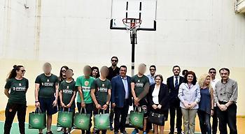 Εγκαινιάστηκε το γήπεδο μπάσκετ στο Κατάστημα Κράτησης Ανηλίκων Κορίνθου