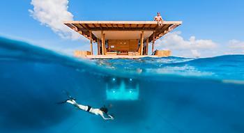 Αυτό το ξενοδοχείο βρίσκεται τέσσερα μέτρα κάτω από την επιφάνεια της θάλασσας! (pics/video)