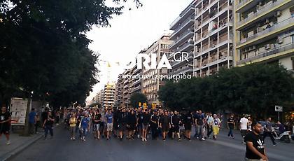 Πορεία οπαδών του Ηρακλή - Συνθήματα κατά Σαββίδη και ΣΥΡΙΖΑ (video)