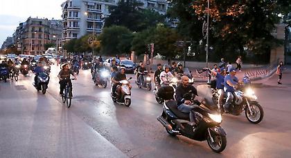 Η μηχανοκίνητη πορεία διαμαρτυρίας των φίλων του Ηρακλή (pics)