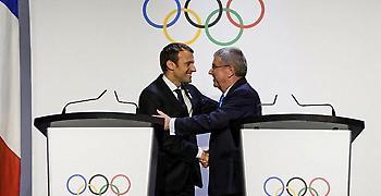 Συνάντηση Μακρόν και Γκαρτσέτι με τον Τόμας Μπαχ για τους Αγώνες 2024-2028