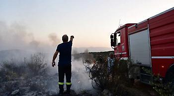Kέρκυρα: Mεγάλη φωτιά στην ορεινή περιοχή Περίσσια