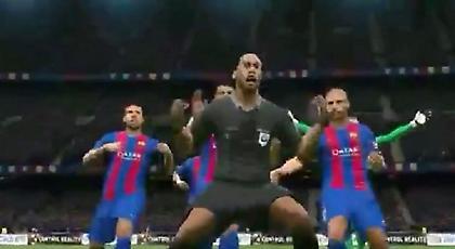 Ο διαιτητής πανηγυρίζει... μαζί με την Μπαρτσελόνα(video)