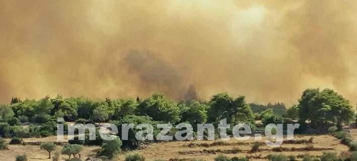 «Υψηλού κινδύνου» η Ζάκυνθος λόγω των πυρκαγιών -Στέλνουν drone για 24ωρη επιτήρηση (pics)