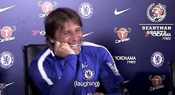 Βίντεο-έπος: «Δάκρυσε» από τα γέλια ο Κόντε όταν ρωτήθηκε για τον Ντιέγκο Κόστα