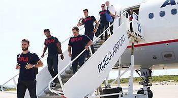 Εικόνες από την άφιξη του Ολυμπιακού στη Ριέκα (pics)