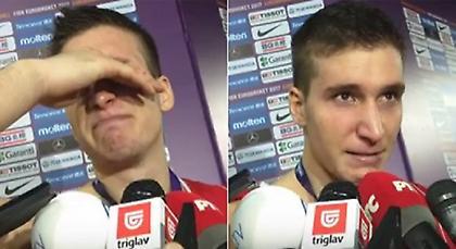 «Ξέσπασε» σε κλάματα ο Μπογκντάνοβιτς στη μικτή ζώνη (video)