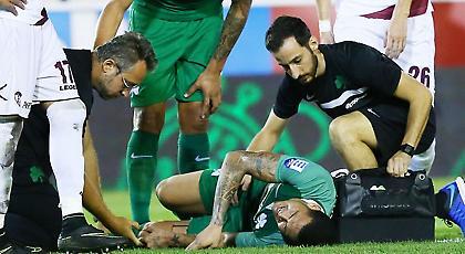 Αποχώρησε βουρκωμένος με τραυματισμό ο Λουτσιάνο, αγωνία στον Παναθηναϊκό (pics)