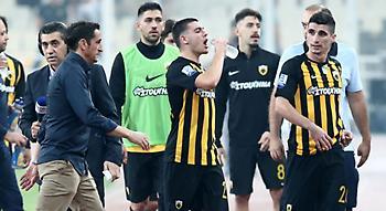 Σκασμένοι οι παίκτες της ΑΕΚ με τη διακοπή του ματς