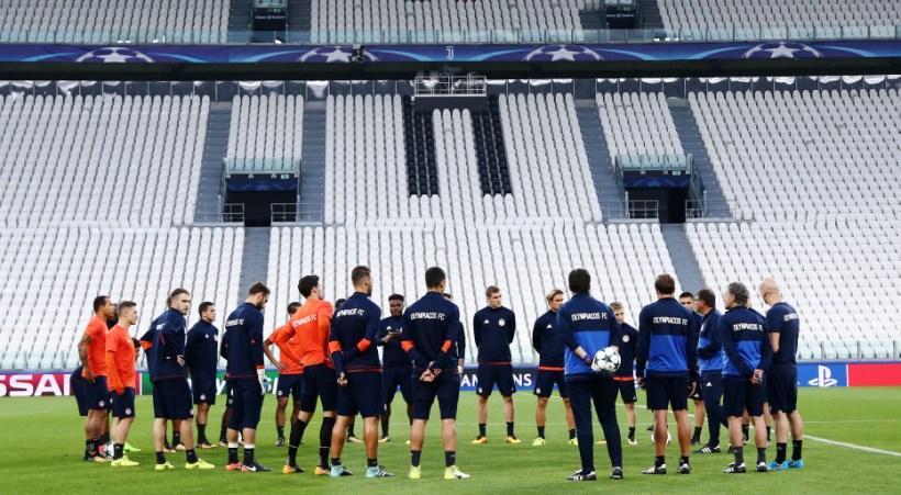 Εικόνες από την προπόνηση του Ολυμπιακού στο Juventus Stadium (pics/vid)