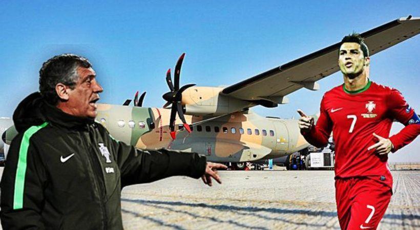 Με αεροπλάνο… του στρατού στην Ανδόρα η εθνική Πορτογαλίας (video)