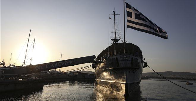 Έφτασε στο λιμάνι της Θεσσαλονίκης το θρυλικό θωρηκτό Αβέρωφ