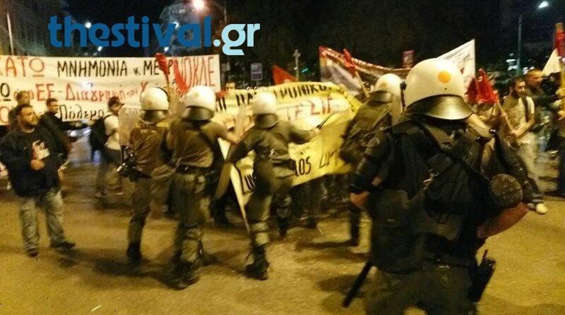 Θεσσαλονίκη: Καταγγελία για την επίθεση των ΜΑΤ σε διαδηλωτές πριν την ομιλία Τσίπρα