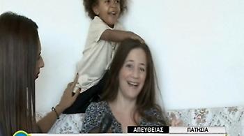 Έδινε συνέντευξη στον ΣΚΑΪ αλλά η κορούλα της ήθελε να παίξει!