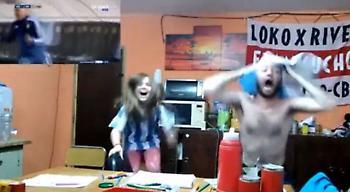 ΕΠΟΣ: Οπαδός της Αργεντινής… σάλταρε στα γκολ του Μέσι! (video)