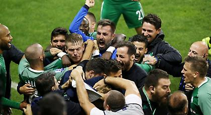 Το τρελό ξέσπασμα των παικτών του Παναθηναϊκού στο γκολ του Χίλιεμαρκ! (pics)