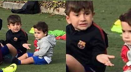 Η απίθανη γκριμάτσα του γιου του Μέσι έγινε viral (pic)
