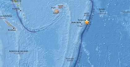 Ισχυρή σεισμική δόνηση στις νήσους Τόνγκα