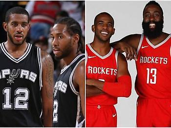 NBA (SouthWest): Δύο μεγαθήρια και τρεις συμπληρωματικοί!