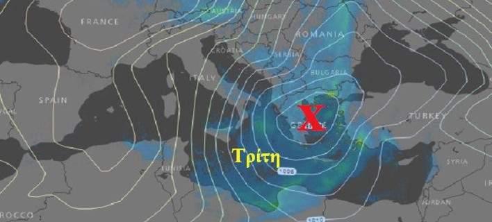 Καλλιάνος: Έρχονται ισχυρές βροχές και καταιγίδες Δευτέρα και Τρίτη -Δείτε τους χάρτες