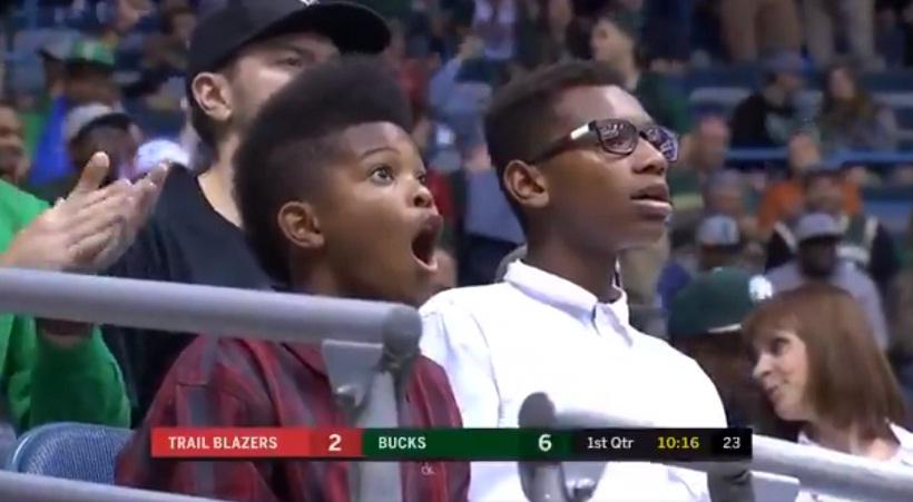 Παιδάκι έμεινε με ανοιχτό το στόμα λόγω Αντετοκούνμπο (video)