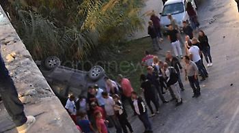 Κρήτη: Κινηματογραφική πτώση ενός τζιπ από γέφυρα στην Εθνική οδό!