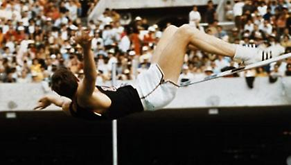 «Fosbury flops over the bar»