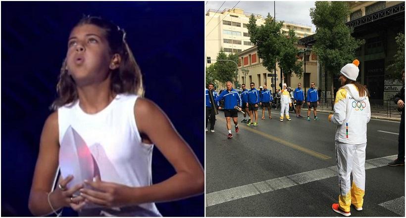 Λαμπαδηδρόμος το κορίτσι που έσβησε την Ολυμπιακή Φλόγα το 2004 (video)