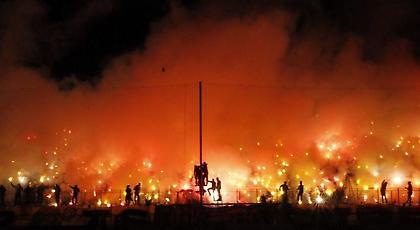 Κάηκε το «Κλ. Βικελίδης» πριν το Άρης-Μπόκα Τζούνιορς (pics)