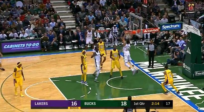 NBA: Διπλός Γιάννης  Αντετοκούνμπο στο Top 10 (video)