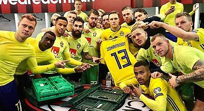 Οι Σουηδοί αφιέρωσαν την πρόκριση στον Γιόχανσον! (pics)