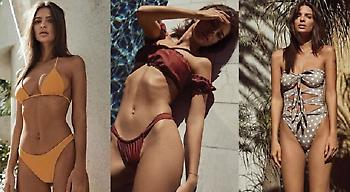 Η Έμιλι Ραταϊκόφσκι παρουσιάζει τη σέξι συλλογή μαγιό της (pics)